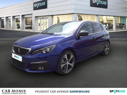 Used PEUGEOT 308 1.2 PureTech 130ch €6.c S&S GT Line 2018 Bleu Magnetic € 19,870 in Sarrebourg