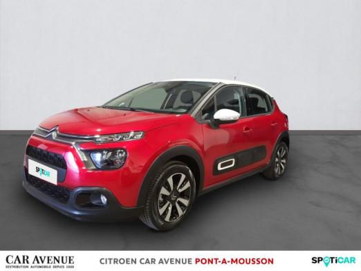 Occasion CITROEN C3 1.5 BlueHDi 100ch S&S Shine E6.d 2021 Rouge elixir 19990 € à Pont-à-Mousson