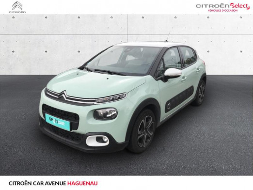 Occasion CITROEN C3 ESSENCE 82 CV Shine GPS 2018 Almond Green 12 580 € à Haguenau
