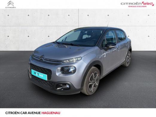 Occasion CITROEN C3 ESSENCE 82 CV Graphic GPS GARANTIE 12 MOIS 2019 Gris Platinium - Noir Onyx 12885 € à Haguenau