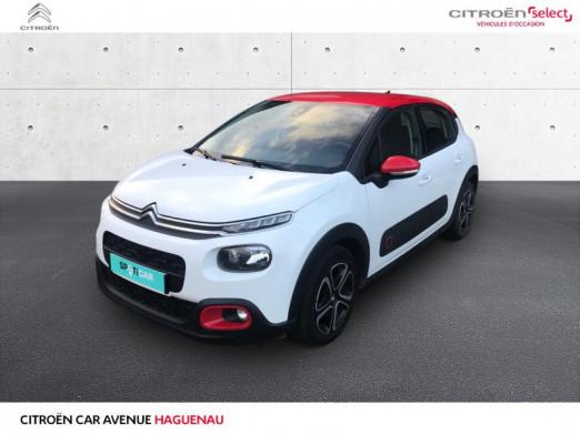 Occasion CITROEN C3 ESSENCE 82 CV Shine GPS CAR PLAY 2017 Blanc Banquise - Rouge Aden 12900 € à Haguenau