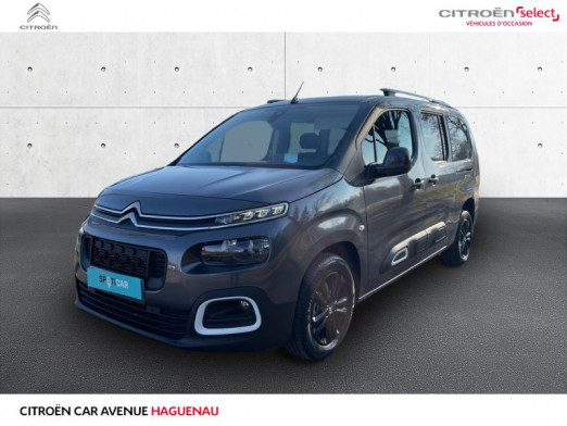 Occasion CITROEN Berlingo XL ESSENCE 130 CV Shine BOITE AUTOMATIQUE GPS CAR PLAY 2020 Gris Platinium (M) 27 990 € à Haguenau