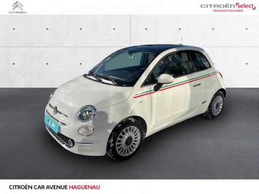 Occasion FIAT 500 1.2 8v 69ch Lounge 2017 Coloris Perlé tri-couche Ice White 10290 € à Haguenau