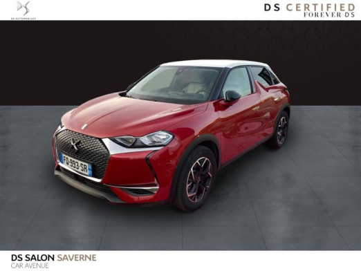 Occasion DS DS 3 Crossback PureTech 130ch So Chic Automatique 7cv 2020 Rouge Rubi (M) - Toit Blanc Opale 31 490 € à Saverne