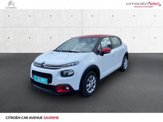 Used CITROEN C3 PureTech 82ch Feel 2018 Blanc Banquise - Rouge Aden € 12,490 in Saverne