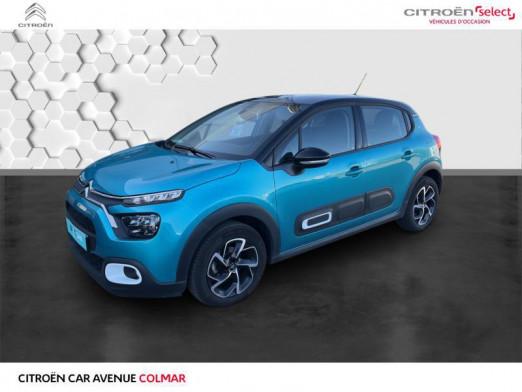 Used CITROEN C3 1.5 BlueHDi 100ch S&S Shine 2020 Spring Blue (M) - Noir Onyx € 17,990 in Sélestat