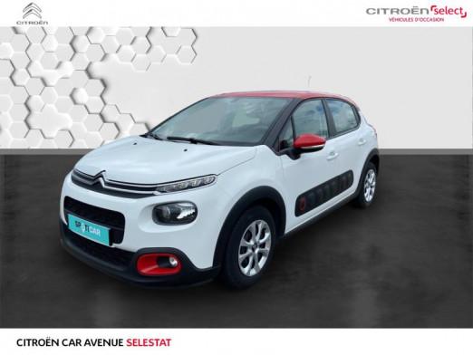 Occasion CITROEN C3 BlueHDi 100ch Feel S&S 2018 Blanc Banquise - Rouge Aden 12990 € à Sélestat