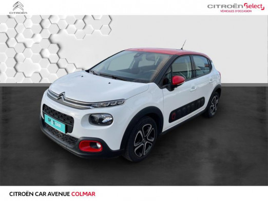 Occasion CITROEN C3 PureTech 82ch Shine S&S E6.d-TEMP 2018 Blanc Banquise - Rouge Aden 12990 € à Colmar
