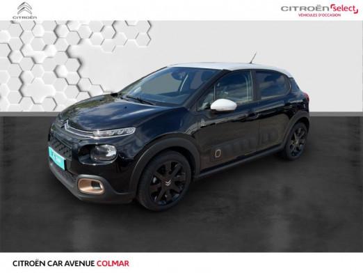 Occasion CITROEN C3 PureTech 82ch Origins S&S E6.d 2019 Ktv noir perla nera 13990 € à Colmar