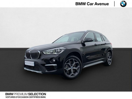 Occasion BMW X1 sDrive20iA 192ch xLine DKG7 2017 Noir 32490 € à Nancy