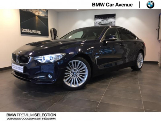 Occasion BMW Série 4 Gran Coupé 420dA 190ch Luxury 2016 Imperialblau brillant 22479 € à Épinal