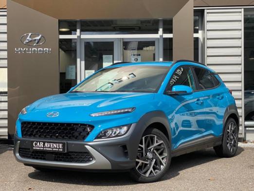 Occasion HYUNDAI Kona 1.6 Hybrid 141ch Auto, Toit pano, Gps 2021 Bleu 27990 € à Forbach