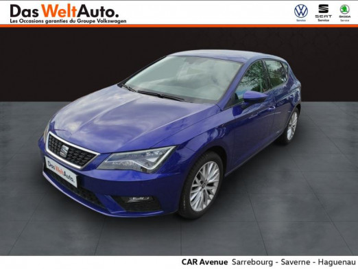Occasion SEAT Leon 1.6 TDI 115ch Urban 2020 Bleu Electrique 18989 € à Saverne