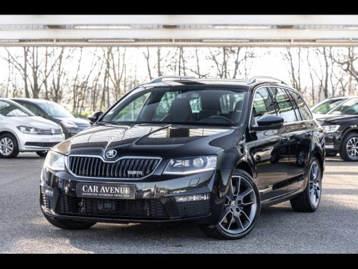 Occasion SKODA Octavia Break 2.0 TDI 184 RS Gps 1ère main Garantie 1an 2015 Noir Magic Nacré 17 980 € à Haguenau