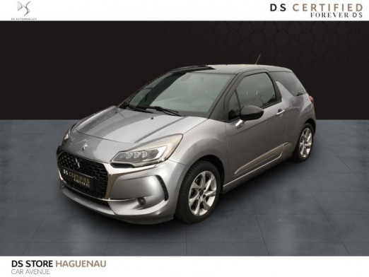 Occasion DS DS 3 ESSENCE 110 CV So Chic BOITE AUTOMATIQUE 2019 Gris Shark (N)  - Toit Noir Onyx 16 880 € à Haguenau