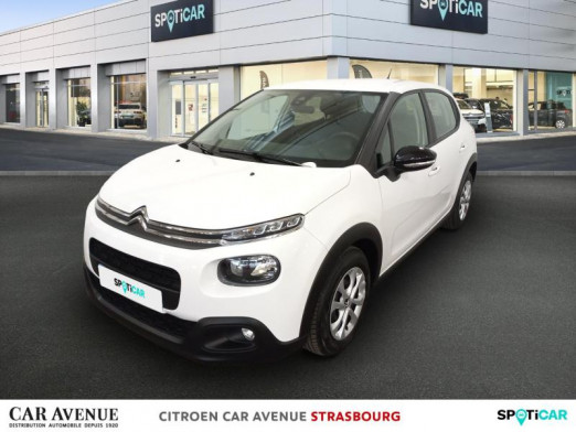 Used CITROEN C3 BlueHDi 75ch Feel S&S 2019 Blanc banquise € 10,450 in Strasbourg